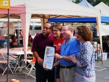 Councilmember Paul Koretz at farmers Market grand opening