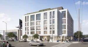 Rendering of the 2301 Westwood project, February 2019
