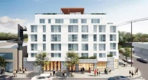 Architect's rendering of the proposed building at 2301 Westwood