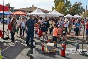Fire extinguisher training at the 2018 Safety & Preparedness Fair