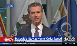 Governor Newsom on television