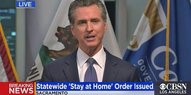 Governor Newsom on television