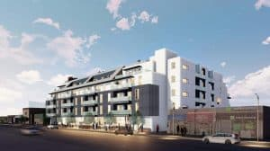 Architect's rendering of the 2121 Westwood Project